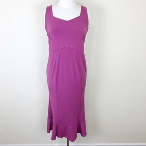 Kim & Kai Maternity Trumpet Midi Dress Medium